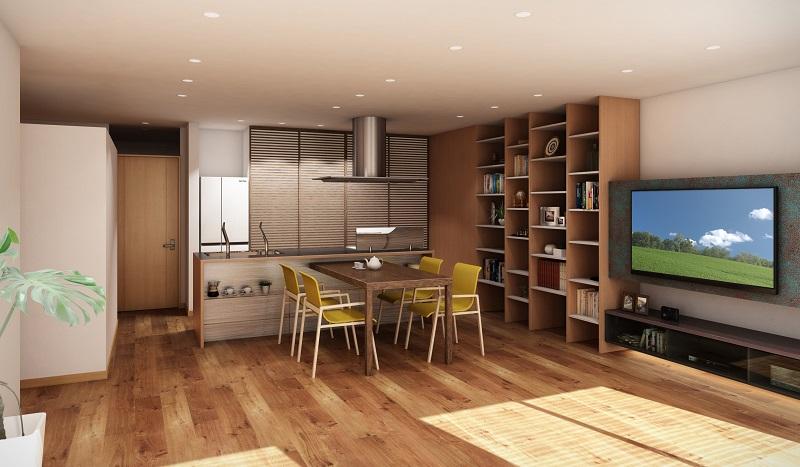キッチンが中心のマンションリフォーム