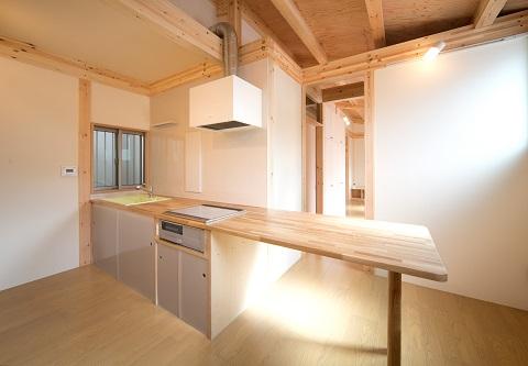 木造平屋建ての狭小住宅の設計