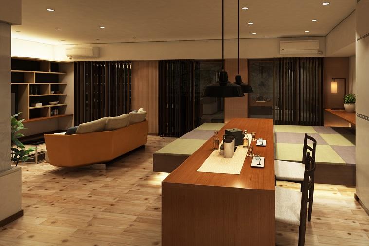 マンションリフォームで高床式の和室を