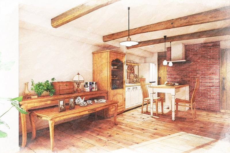 マンションリフォーム:カントリー調の住宅